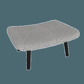 About A Lounge 03 Ottoman, Hallingdal 0126 Mid Grey / Black