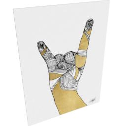 Sign Language IV by KelliEllis - 36''x48'', Gallery wrap