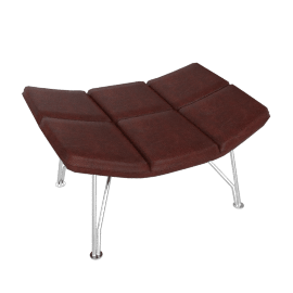 Jehs and Laub Ottoman, Wire Base – Leather