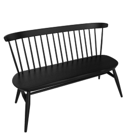 Originals Loveseat Bench, Black Ash
