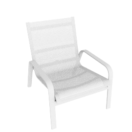 Stack High-Back Lounge Chair, White