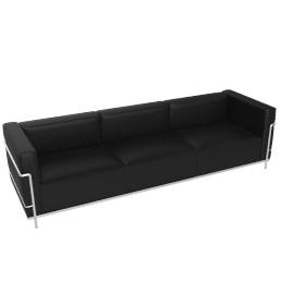 LC3 Grand Modele 3 Seat Sofa, Down Cush - Leather