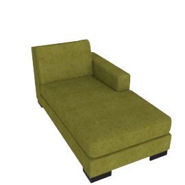Signature Chaise Right, Dark lime