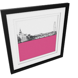 Jacky Al-Samarraie London Skyline Framed Print, 54 x 54cm