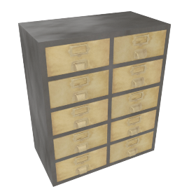 Stow large storage unit, Vintage Brass
