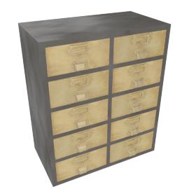Stow large storage unit, Vintage Brass