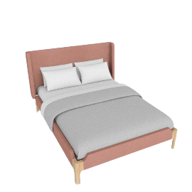 Roscoe Double Bed, Dusk Pink