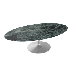 Saarinen Oval Dining Table 96'', Coated Marble 2 - Plt.VerdeAlpi