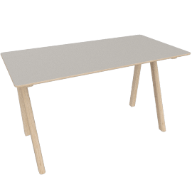 Copenhague 90 Desk, Grey / Oak