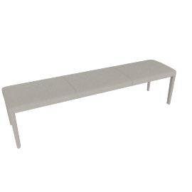 Vella Bench 64'', Warm Grey
