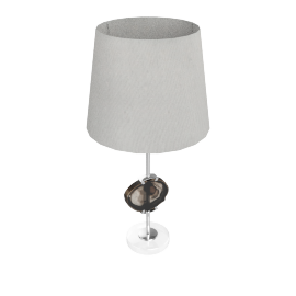 Alzir Metal With Agate Table Lamp 68Cmh - Natural