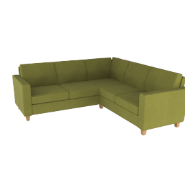 Portia Corner Unit, Olive / Light Leg