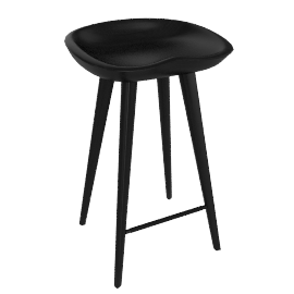Tractor Counter Stool - Ebonized.Wal