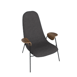 Drew Accent Chair, Slate Grey
