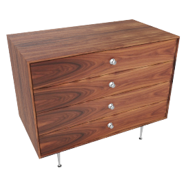 Nelson Thin Edge 4-Drawer Chest, Palisander