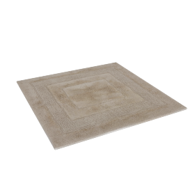 Aristocrat Plush Square Bath Mat, Beige