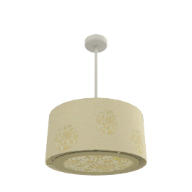 Daisy Circles Pendant Shade, Cream