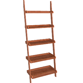 Pisa Shelving Unit, Walnut