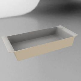 Ceramic Rectangular Dish, Vanilla, L32cm