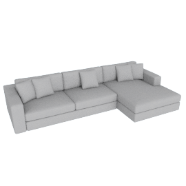 Reid Sectional with Chaise, Left Fabric