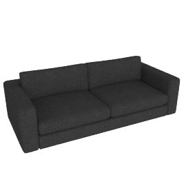 "Reid 86"" Sofa in fabric, anthracite"