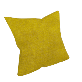Plain Velvet Cushion, Citrine