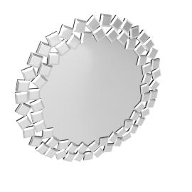 Circulist Wall Mirrror - 80x1.6x80 cms
