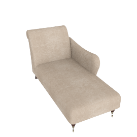RHF Regency Chaise Longue, Luxor Tan