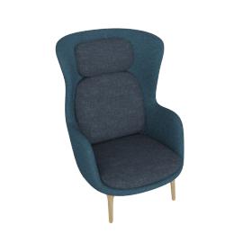 Ro Lounge Chair, Dark Blue