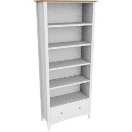 Alba Bookcase, Soft Grey/Oak