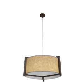 Wildwood Pendant Lamp D44X22Cm H - Brown & Grey