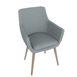 Retro Carver Dining Chair, Grey