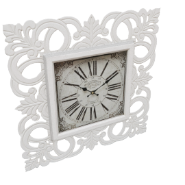 Ivory Leaf Wall Clock