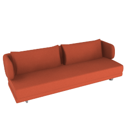 Bay Sleeper Sofa - Red.Orange
