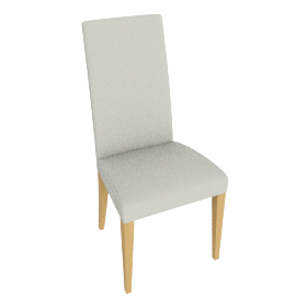 Lydia Dining Chair, Chalk leather