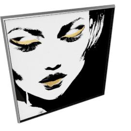 Glam Rock VII by KelliEllis - 54''x54'', Silver