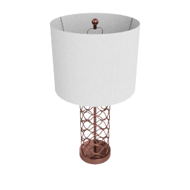 Amaze Metal Table Lamp 73Cm H - Brown 3 Pin
