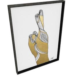 Sign Language X by KelliEllis - 24''x32'', Black