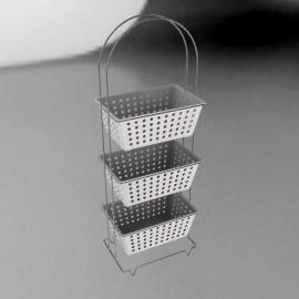Bathroom Basket Unit, 3 Tier