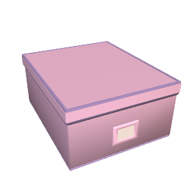 Canvas Storage Box, Pink/Lilac