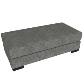 Signature Storage Ottoman, Silver Gray
