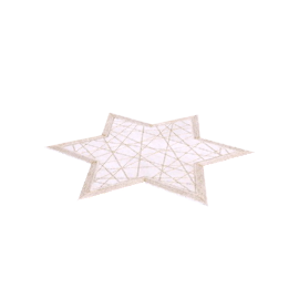 Brilliant Star Placemat, Gold