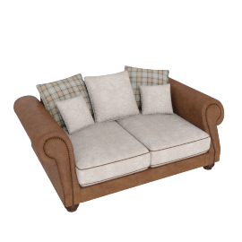 Wendy 2 Seater Beige and Caramel