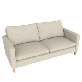 Bailey Large Sofa, Milton Putty