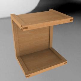 Matera Side Table, oak