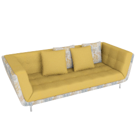 Cyprus 3 Seater Yellow