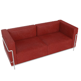 LC3 Grand Modele Two Seat Sofa, Down Cushion