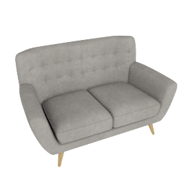 Retro Vibe 2 Seater, Light Grey