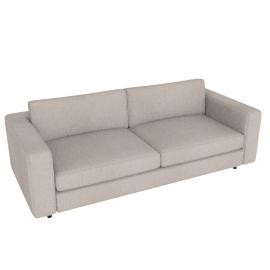 Reid 86'' Sofa in fabric, Pebble Weave Buff