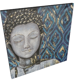 Zen In Blue Handmade Oil Painting - 80x3.5x80 cms